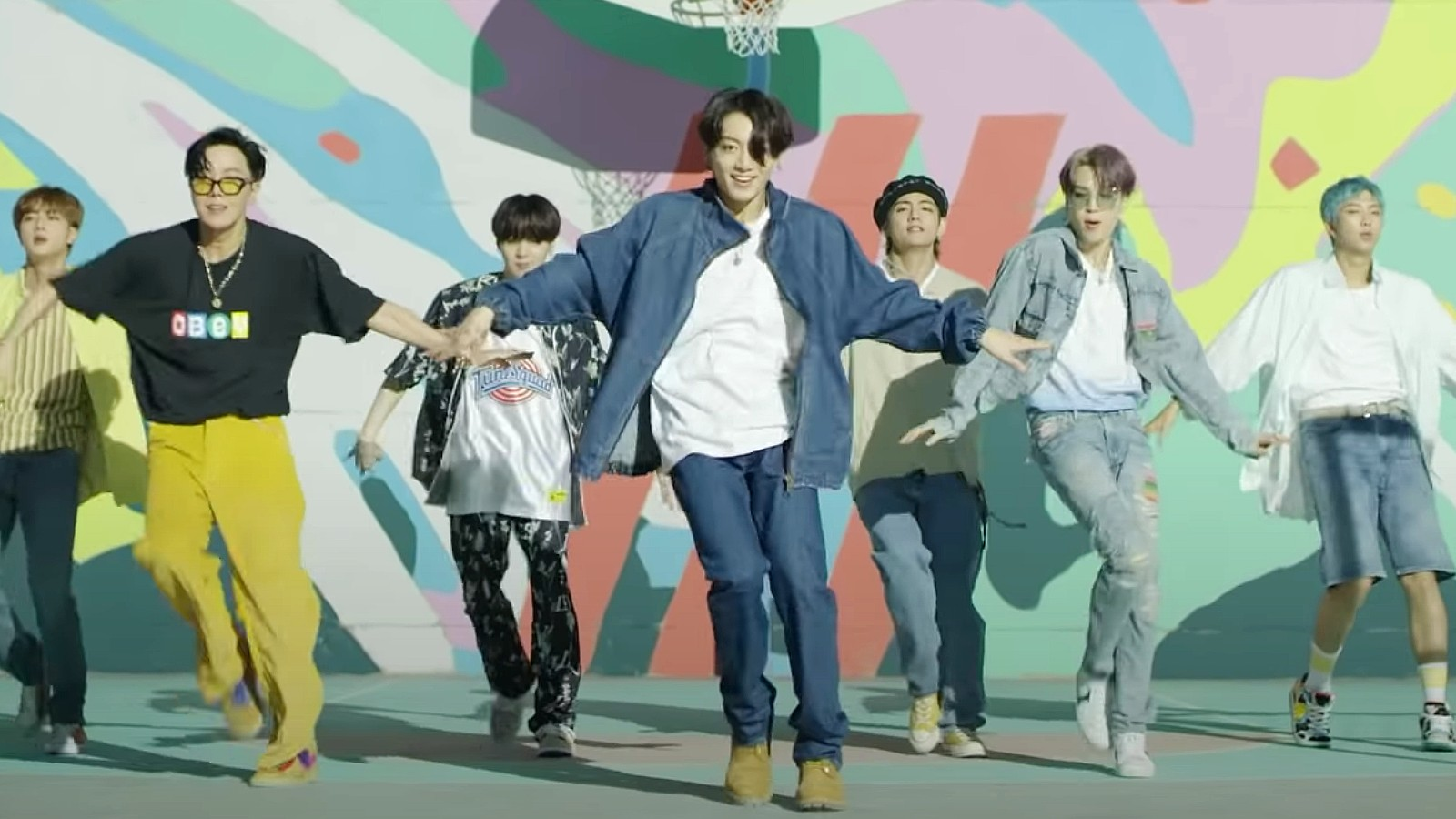 BTS with Big Hit Labels