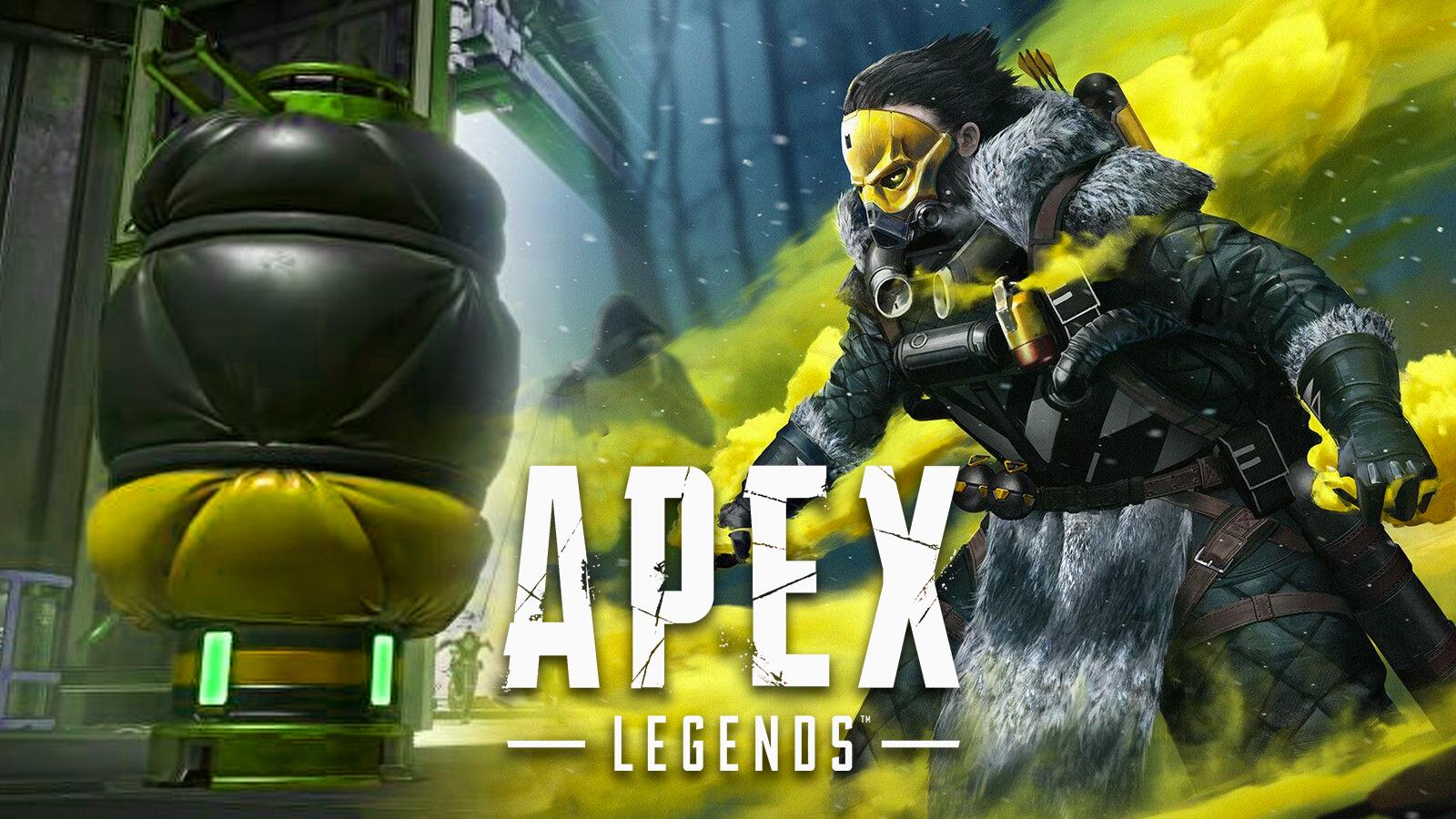 Caustic in Apex Legends.