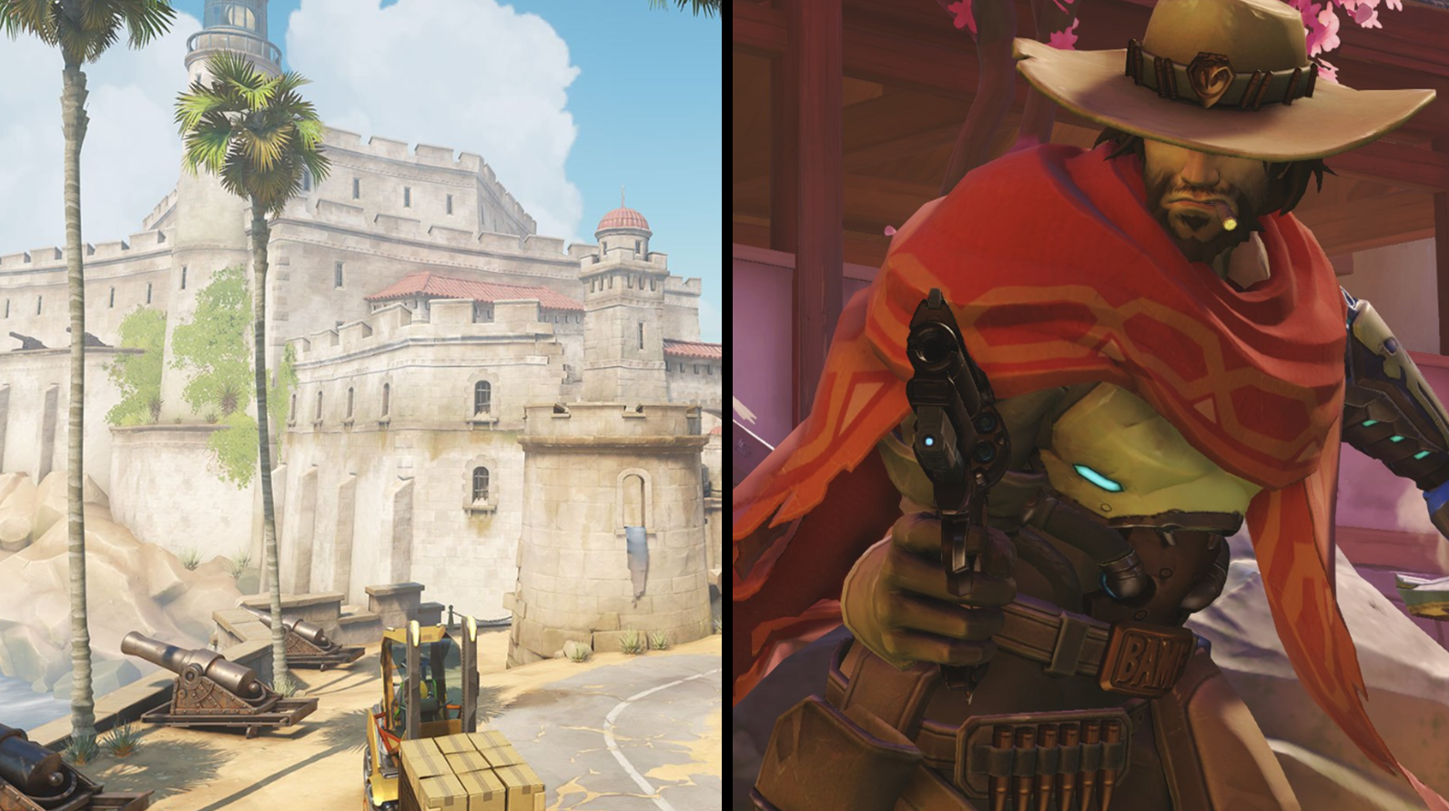Overwatch Havana Escort map gives McCree cover while using his Deadeye ultimate ability