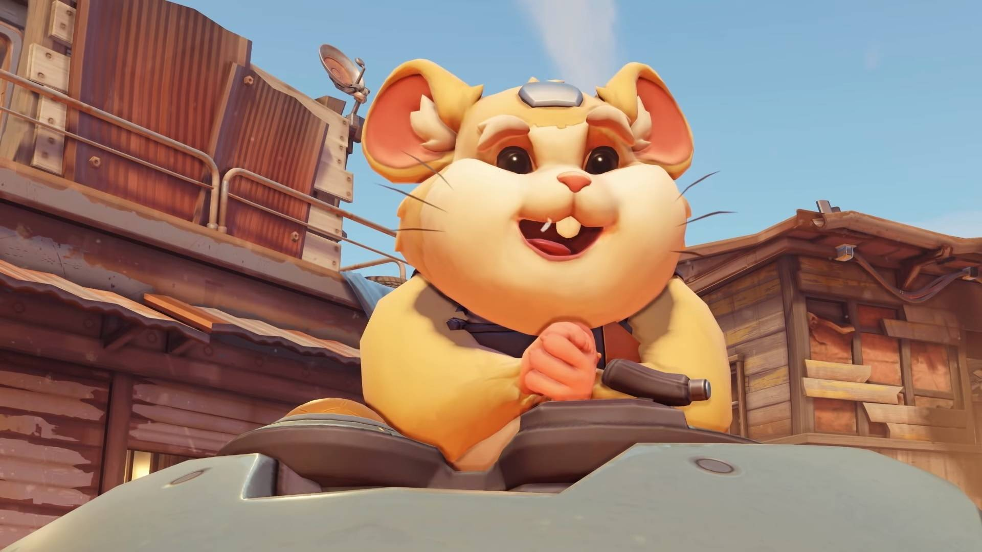 Overwatch Wrecking Ball smiling