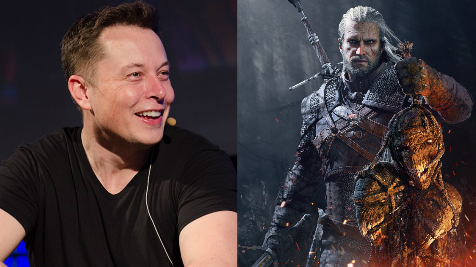 An image of Elon Musk and Geralt from The Witcher