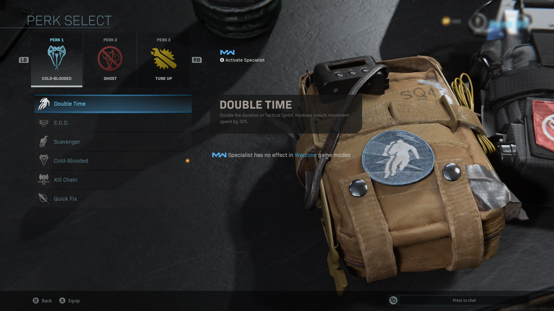 Double Time perk in Warzone.