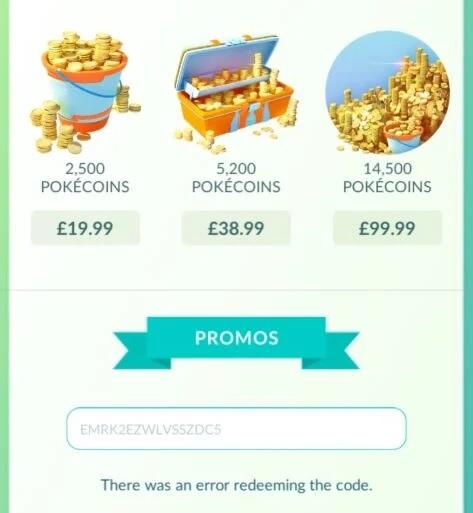 Pokemon Go Android Promo Code