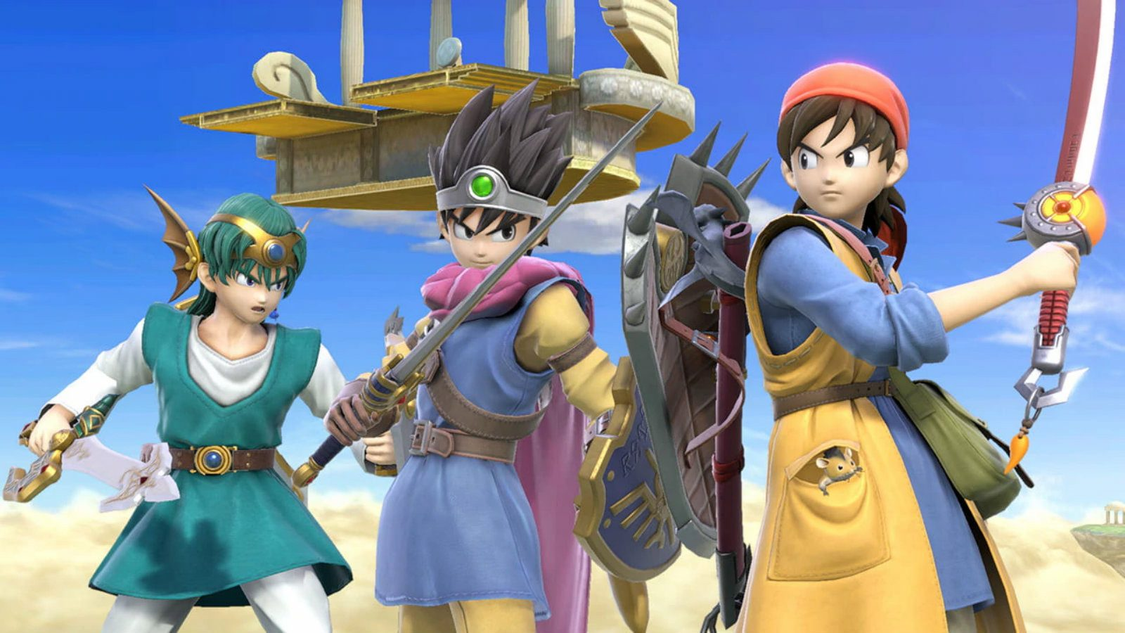 Dragon Quest heroes in Smash