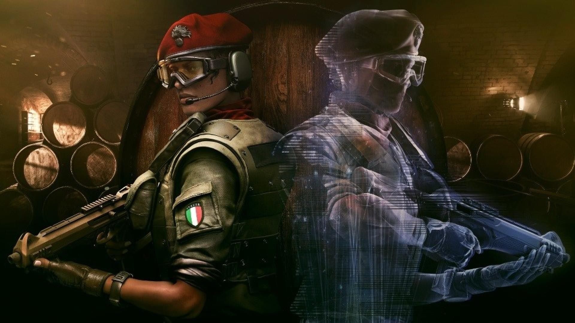 Alibi and her hologram in Rainbow Six Siege