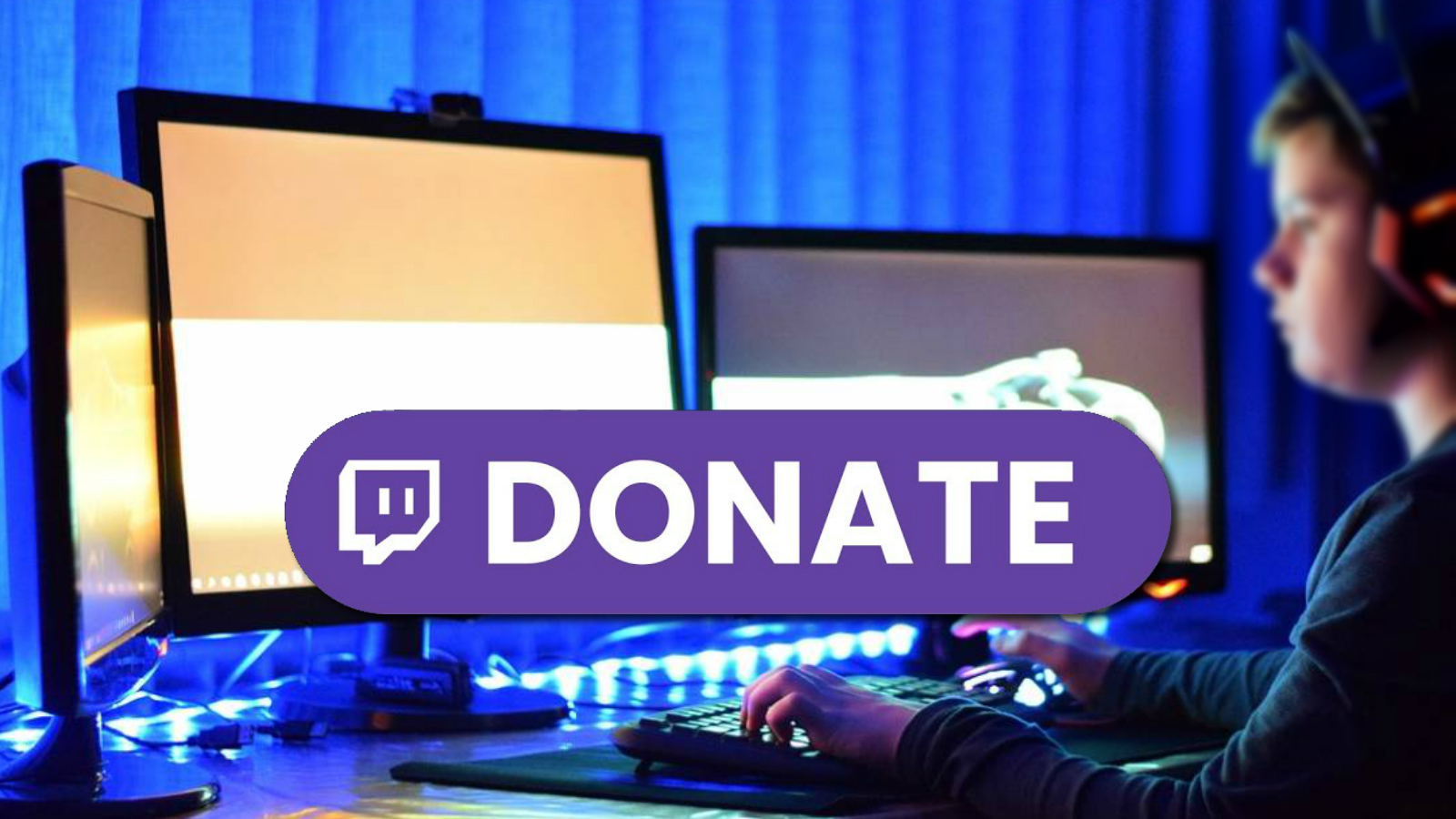 Twitch viewer watching livestreams on PC