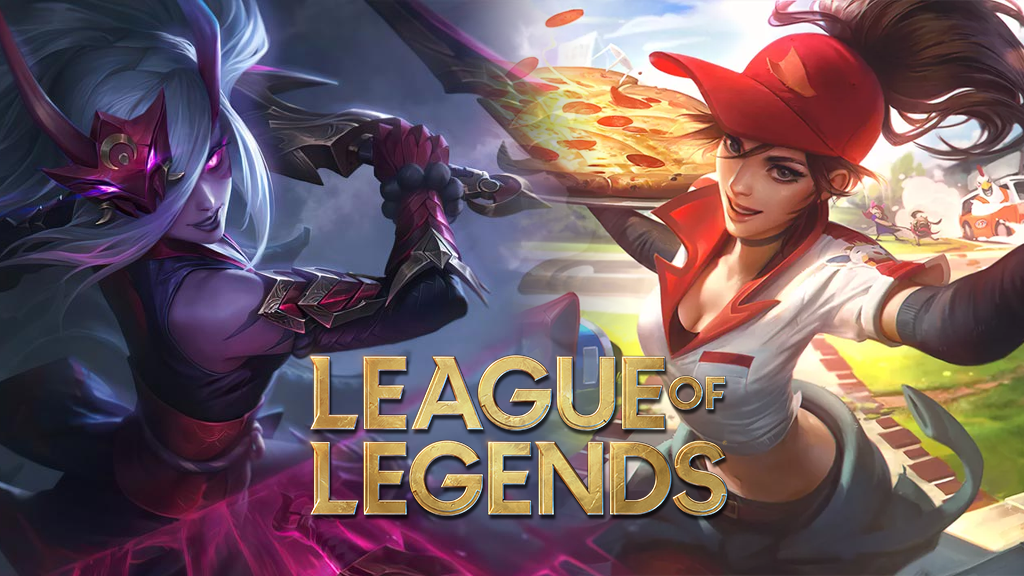 Blood Moon Katarina and Pizza Delivery Sivir in League of Legends