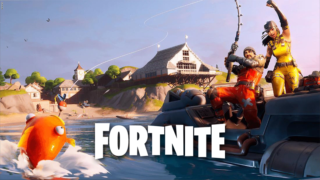 Fortnite players fishing in Chapter 2