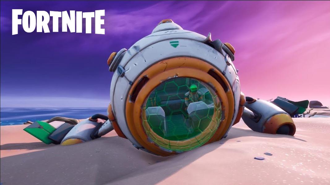 Astronaut spaceship in Fortnite