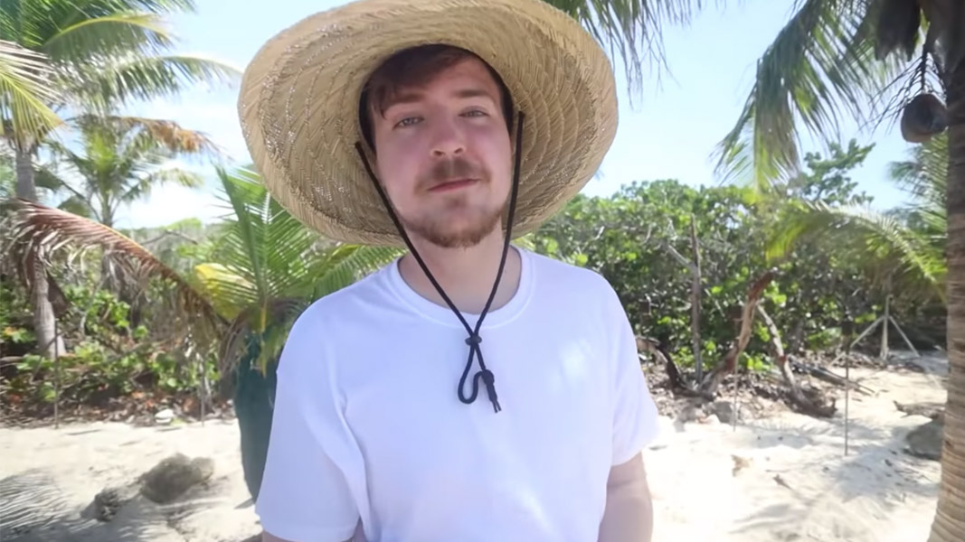 Mr Beast on his private island.