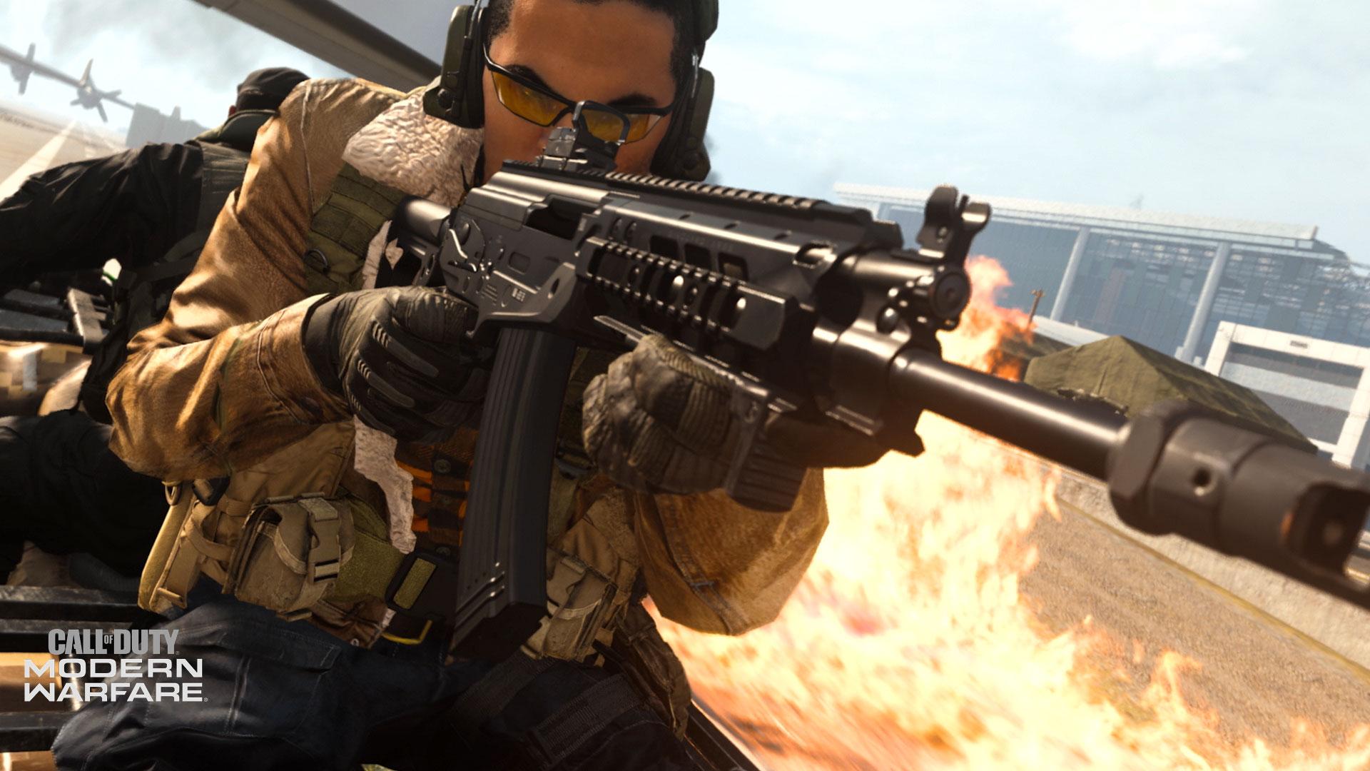 CR-56 AMAX being used in Modern Warfare