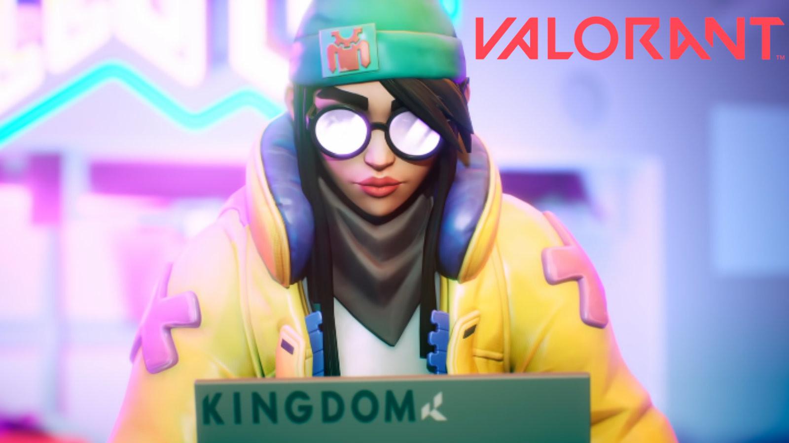 Valorant's Killjoy sits at her computer