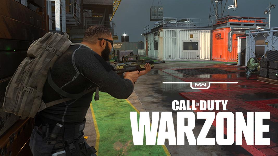 Warzone logo on Modern Warfare Oil RIg gunfight