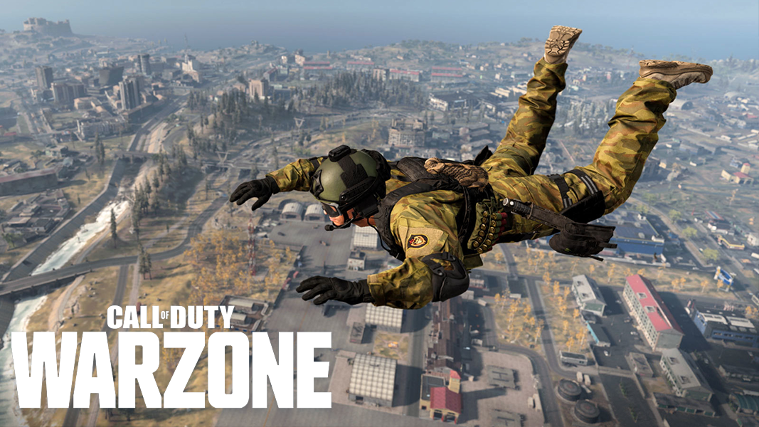 character falling from sky in Warzone