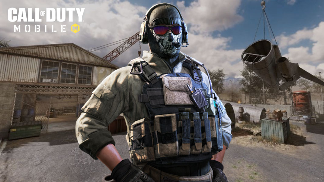 CoD Mobile character and the Scrapyard map