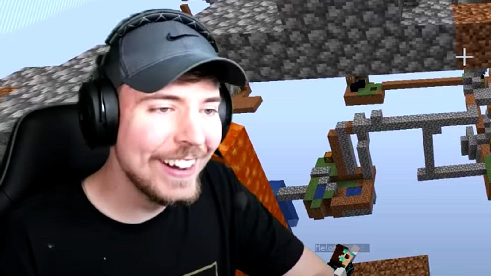 MrBeast in Minecraft YouTube challenge