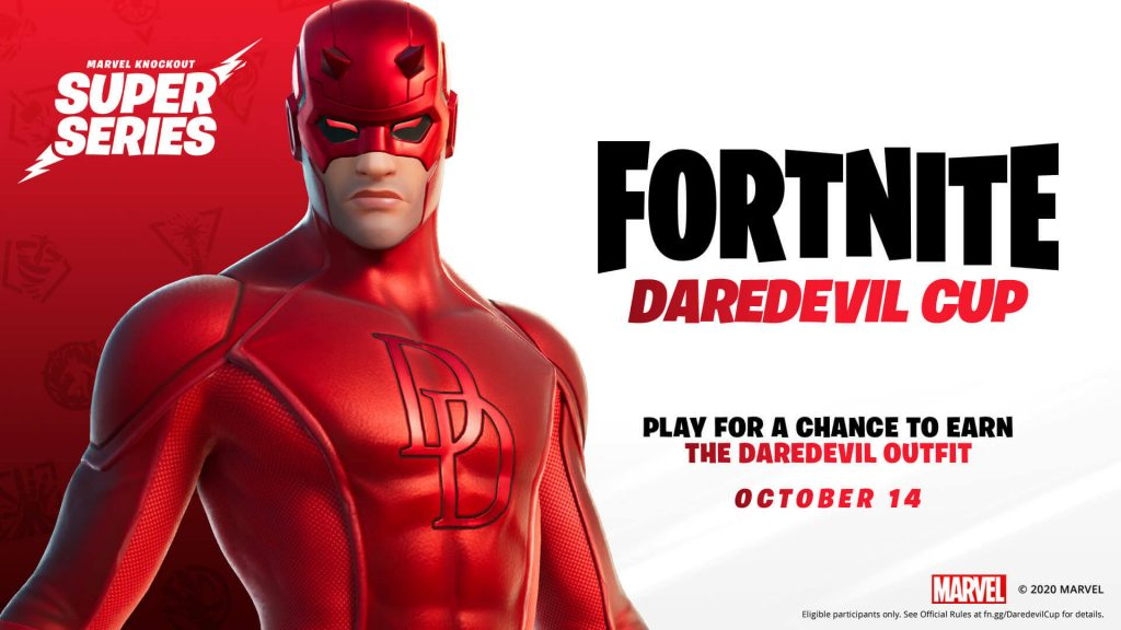 The new Daredevil skin is yours to own... if you can win the Marvel Knockout Super Series.