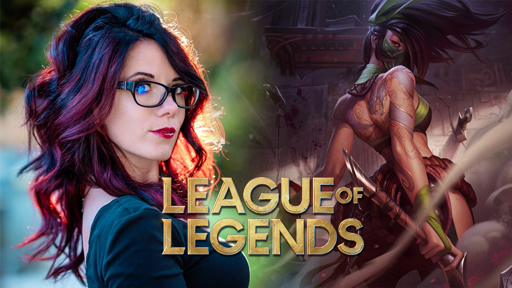 Akali in League of Legends next to Sweet Angel cosplay