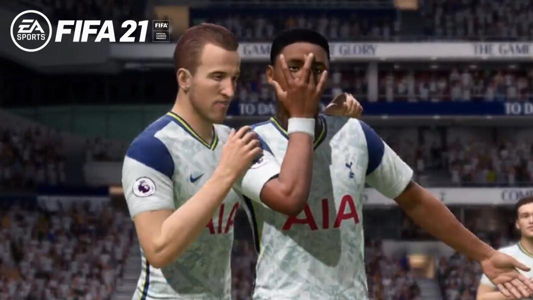 Harry Kane and Steve Bergwijn in FIFA 21
