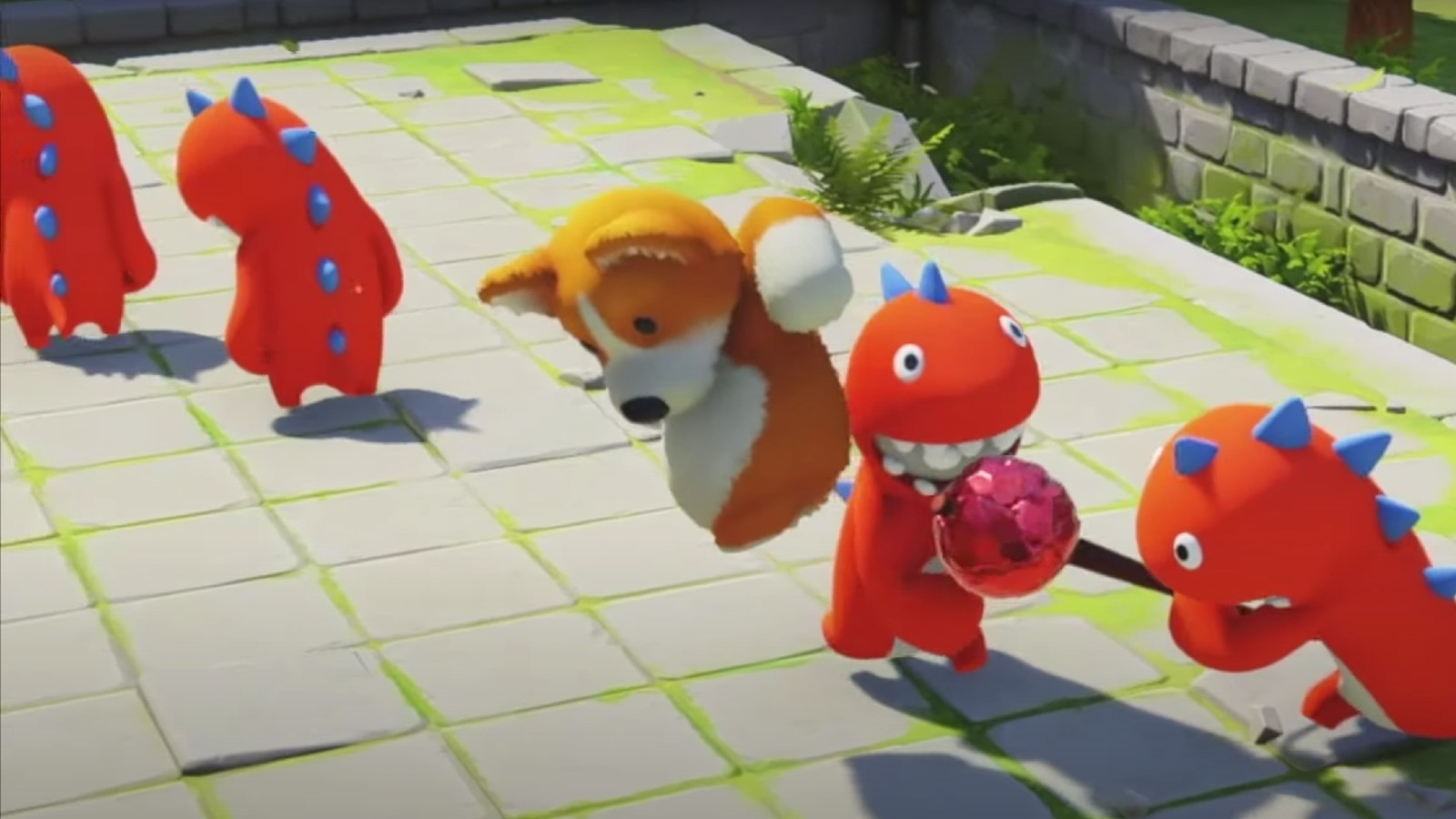 Characters fight in game Party Animals