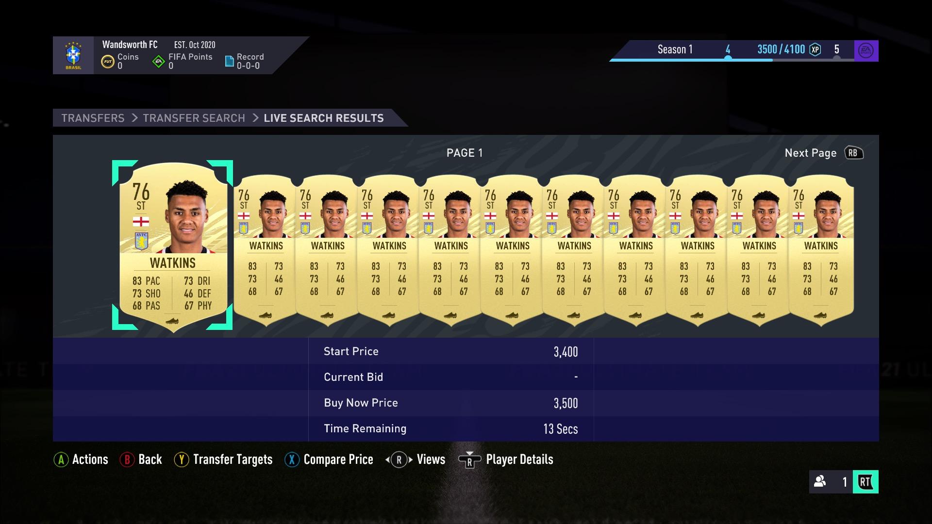 FUT Market FIFA 21