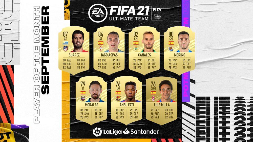 FIFA 21 POTM Player of the Month La Liga