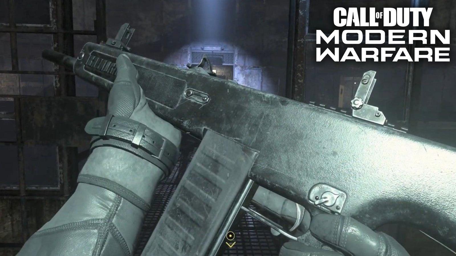 Player holding JAK-12 shotgun in Modern Warfare.