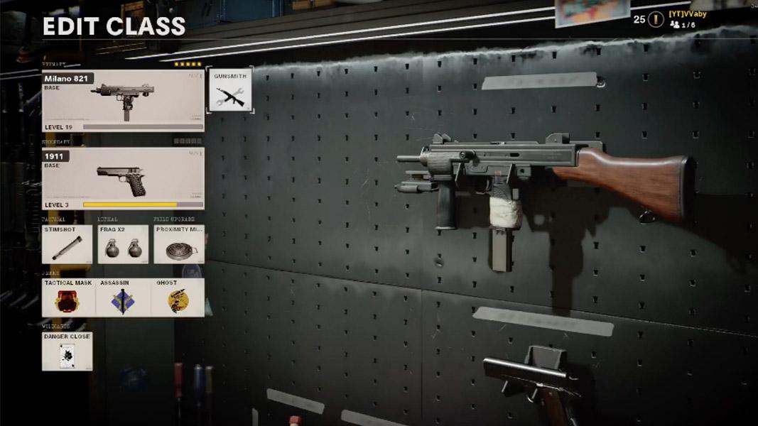 Milano 821 in Black Ops Cold War gunsmith