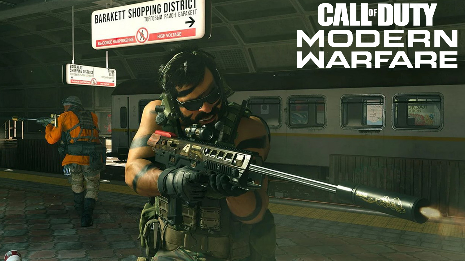 Warzone player using the SPR-208 sniper rifle.