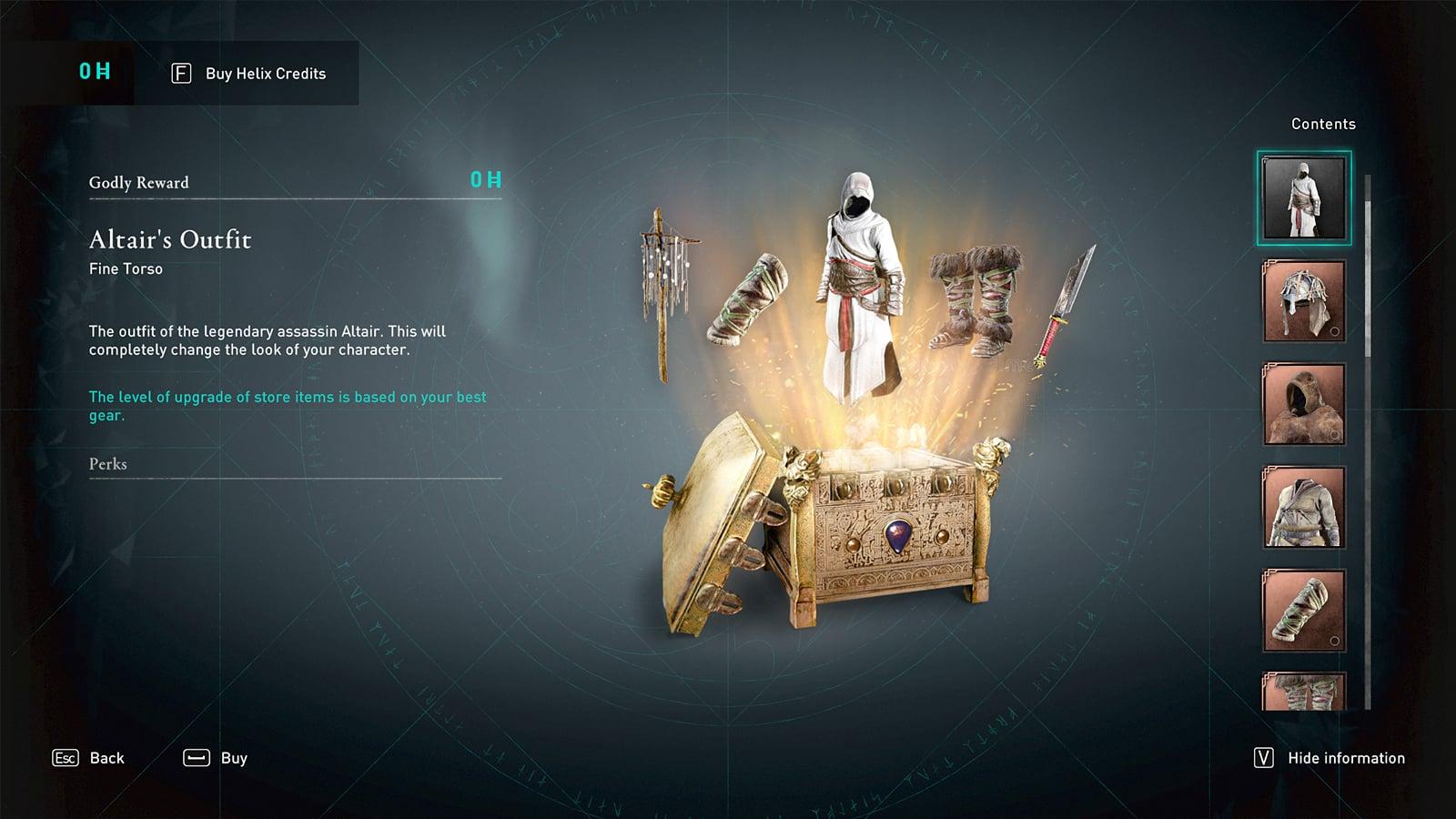 Altair Godly Reward Assassin's Creed Valhalla