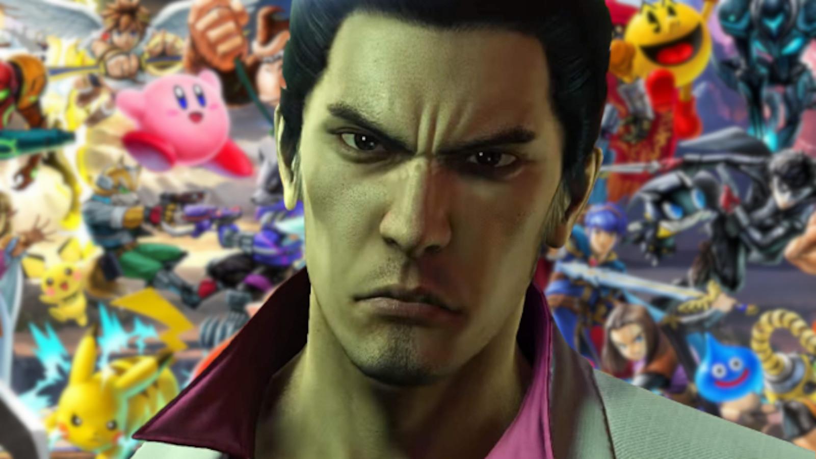Yakuza's Kiryu Smash Ultimate background