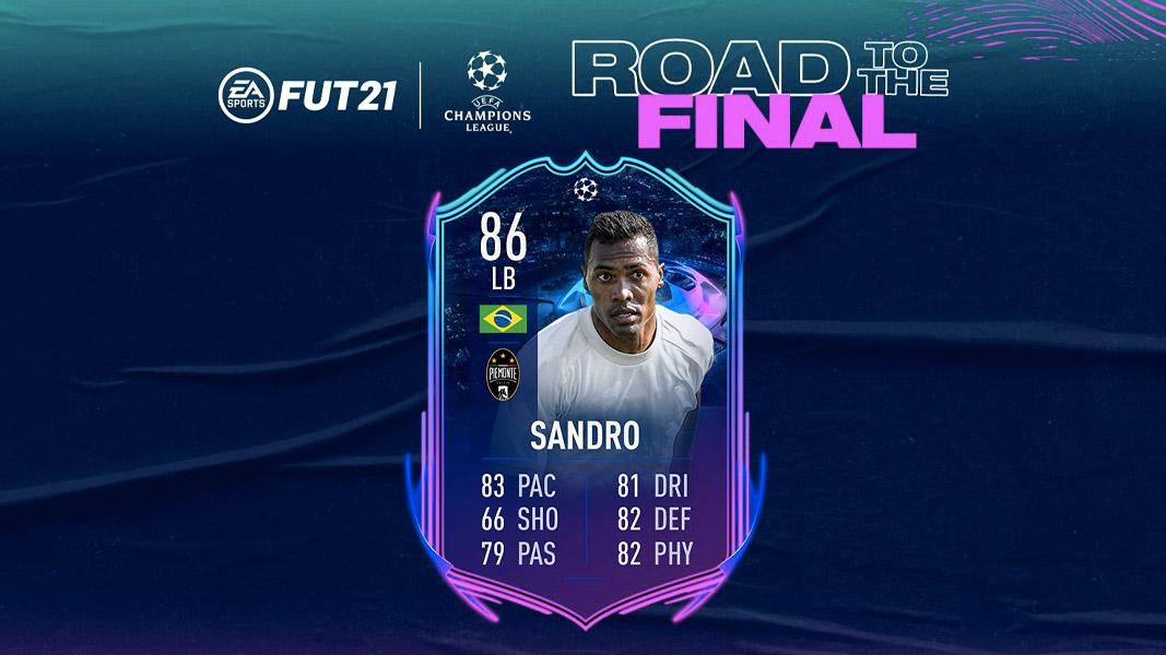 Alex Sandro RTTF card in FIFA 21