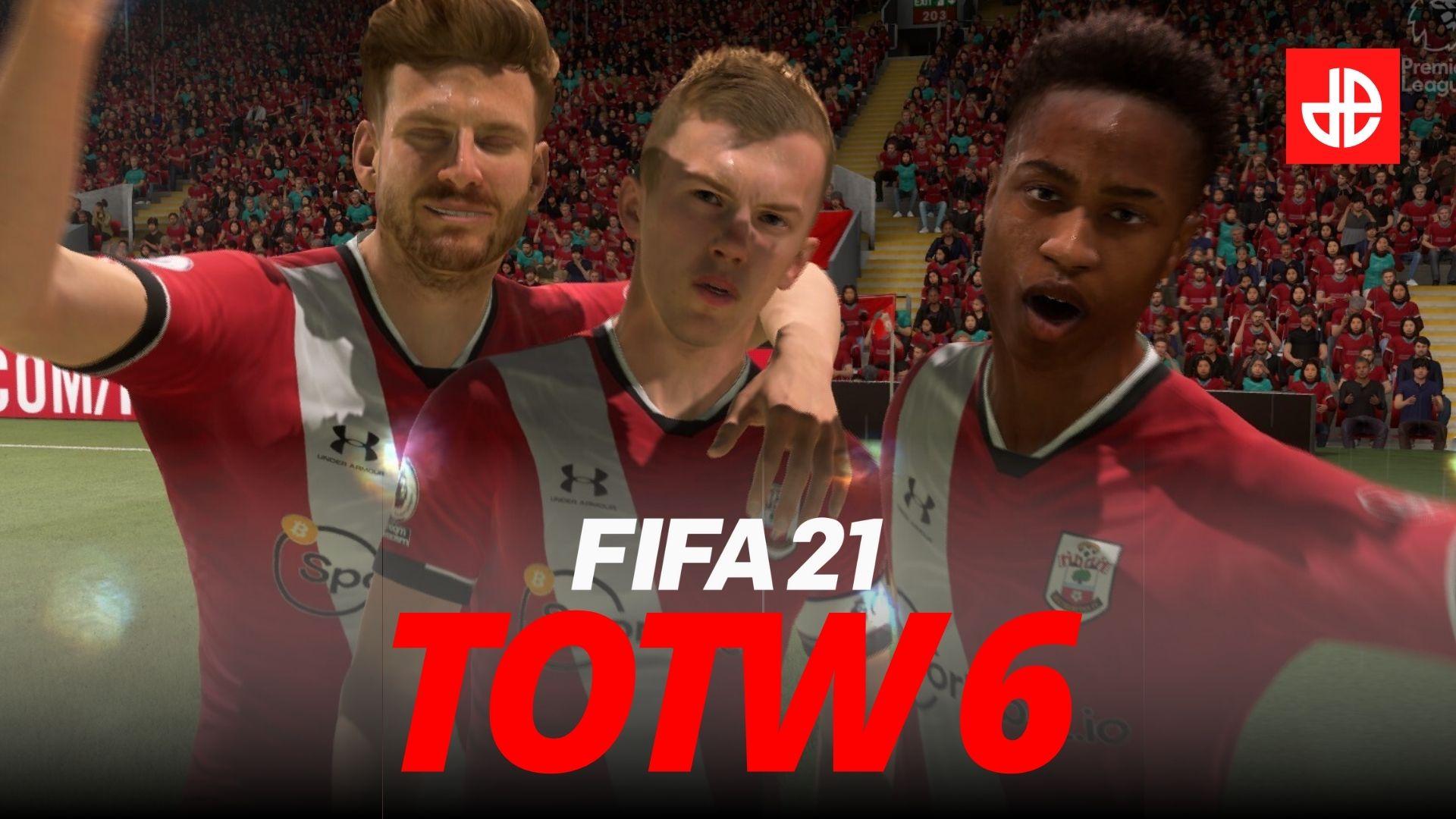 James Ward-Prowse celebrates Southampton goal in FIFA 21.