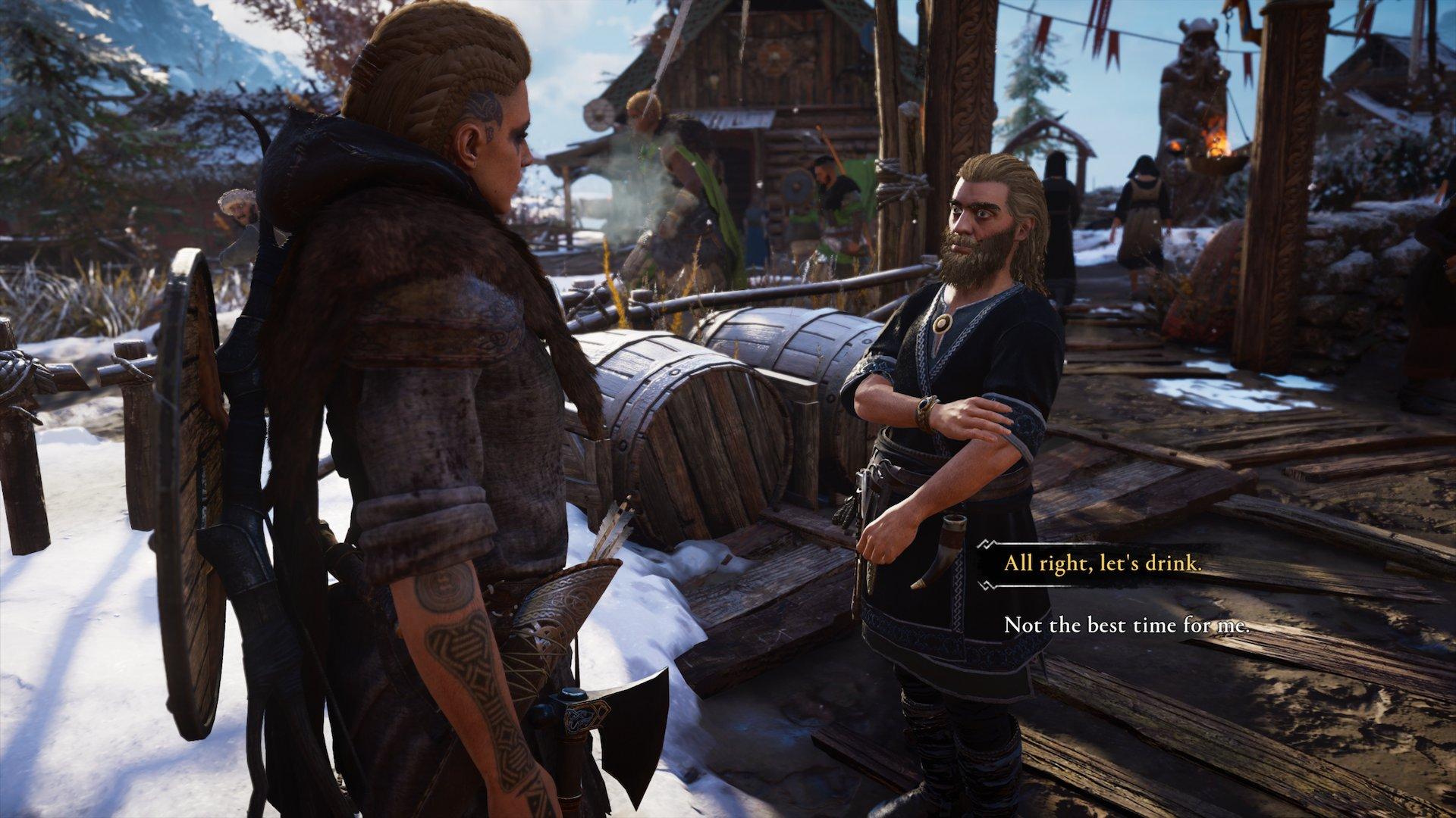 Assassin's Creed Valhalla drinking