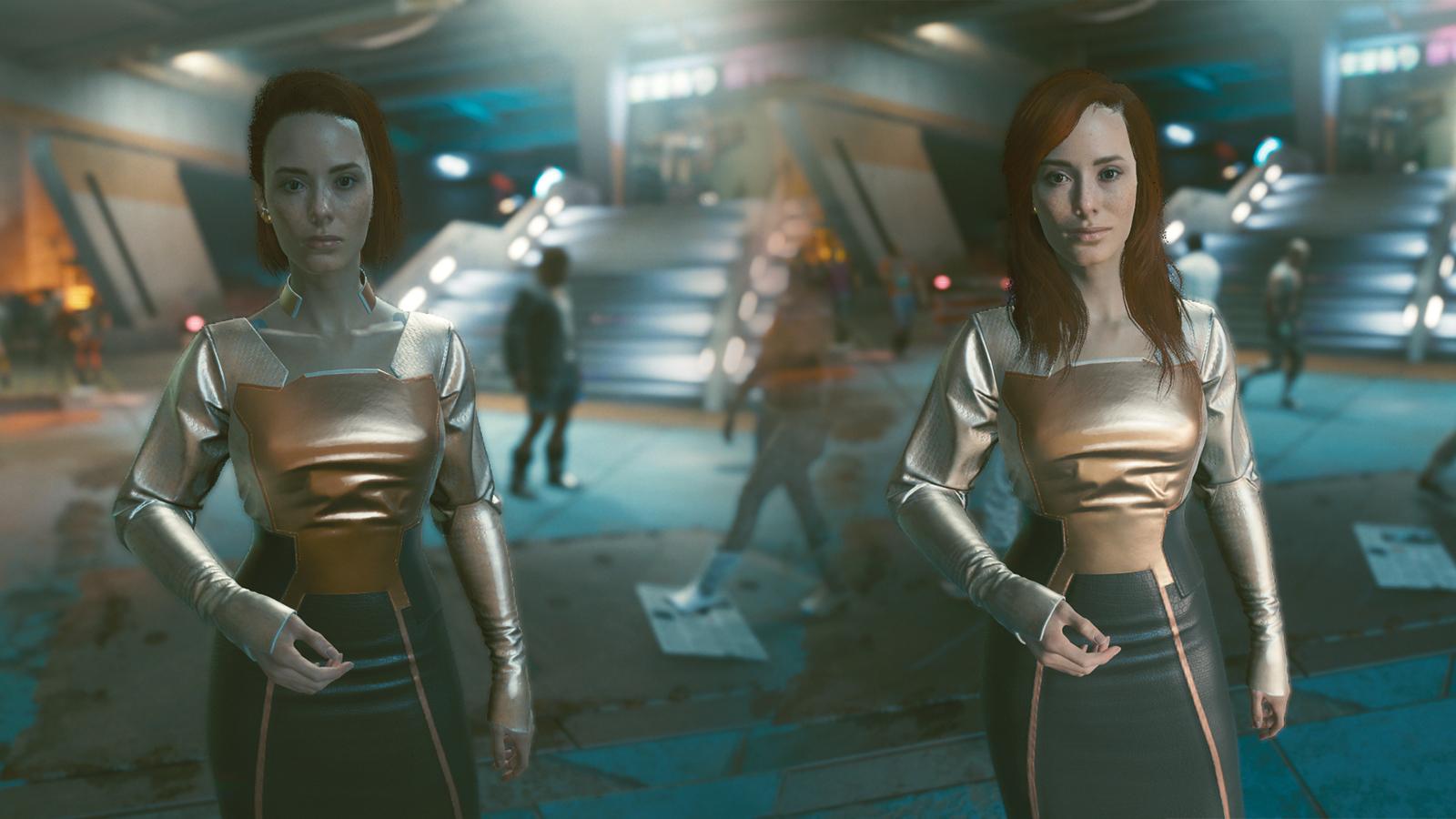 Hairstyle changer mod in Cyberpunk 2077