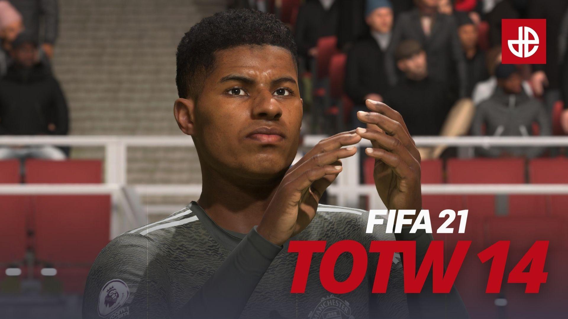 Marcus Rashford Manchester United FIFA 21 TOTW 14.