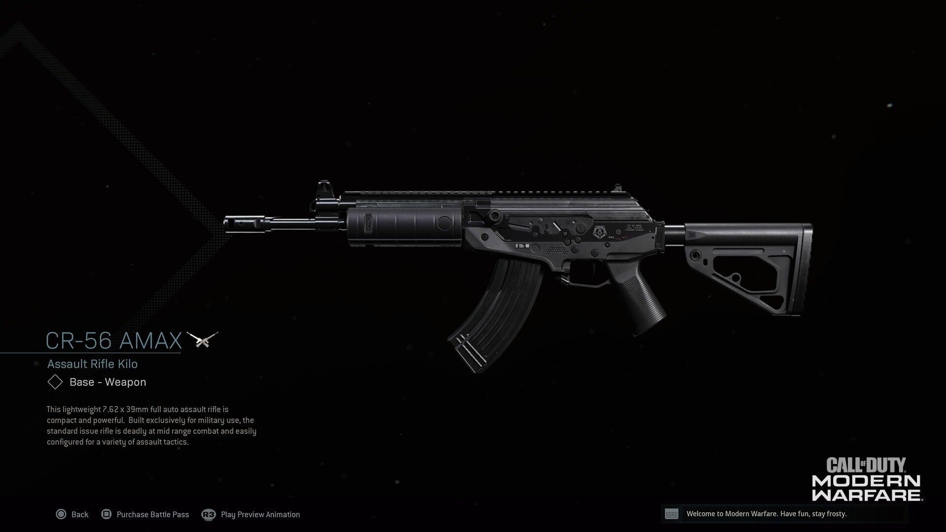AMAX assault rifle