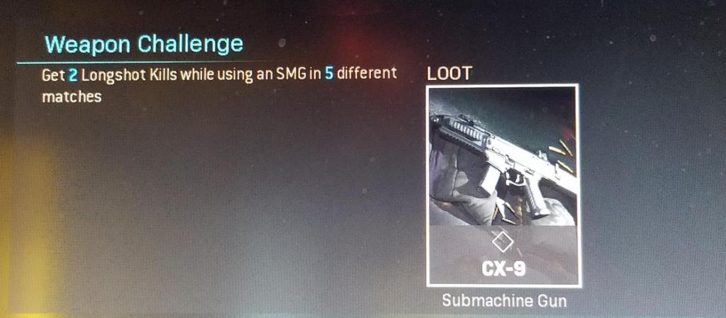 Modern Warfare SMG challenge