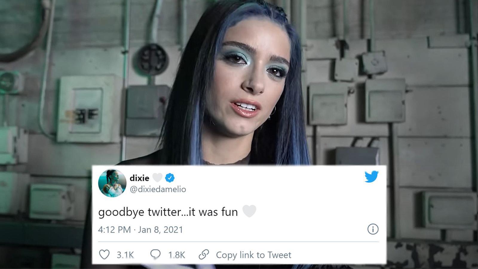 Dixie D'Amelio leaves Twitter