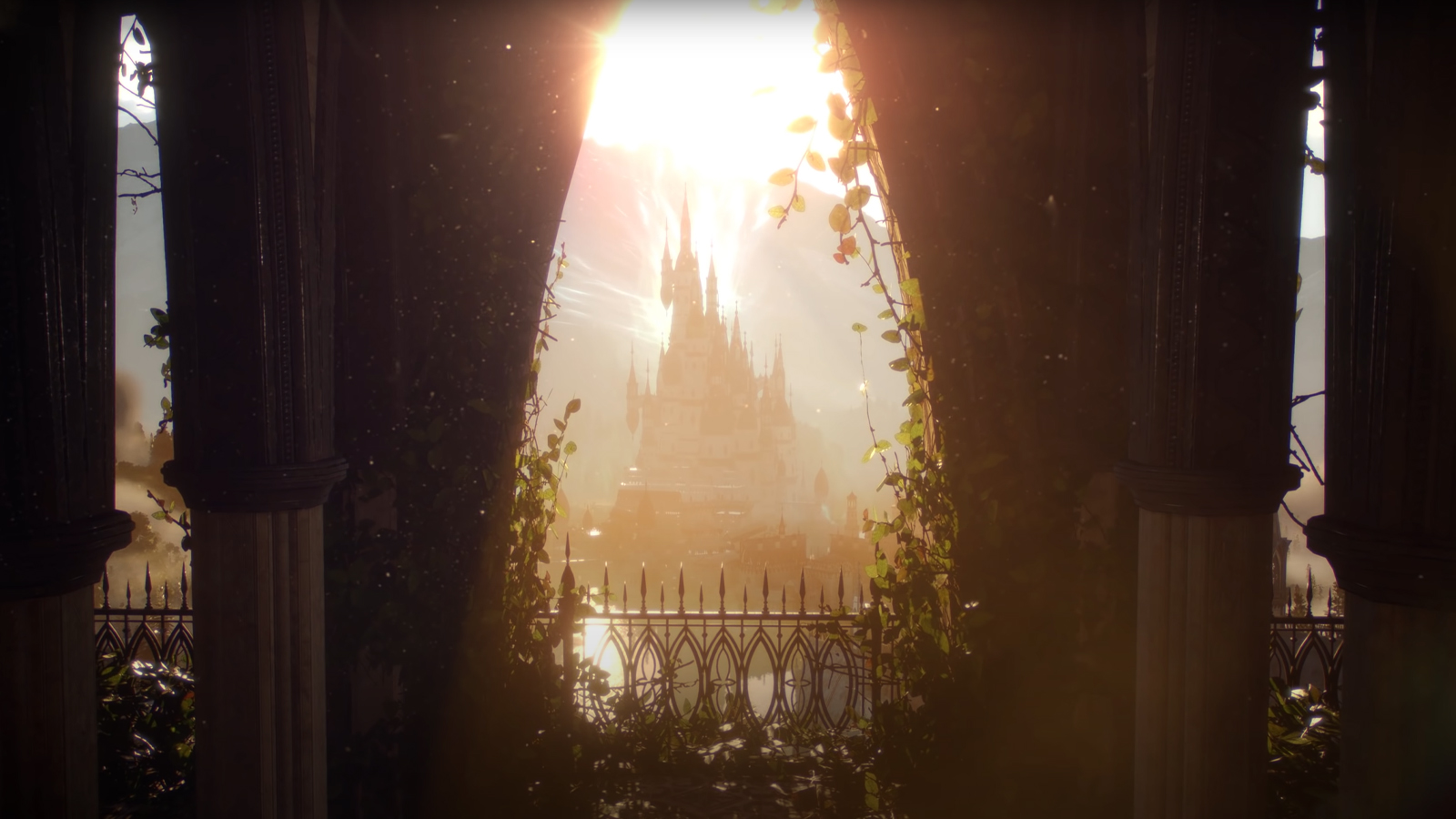 A castle bathed in sunlight in Dragon Age 4