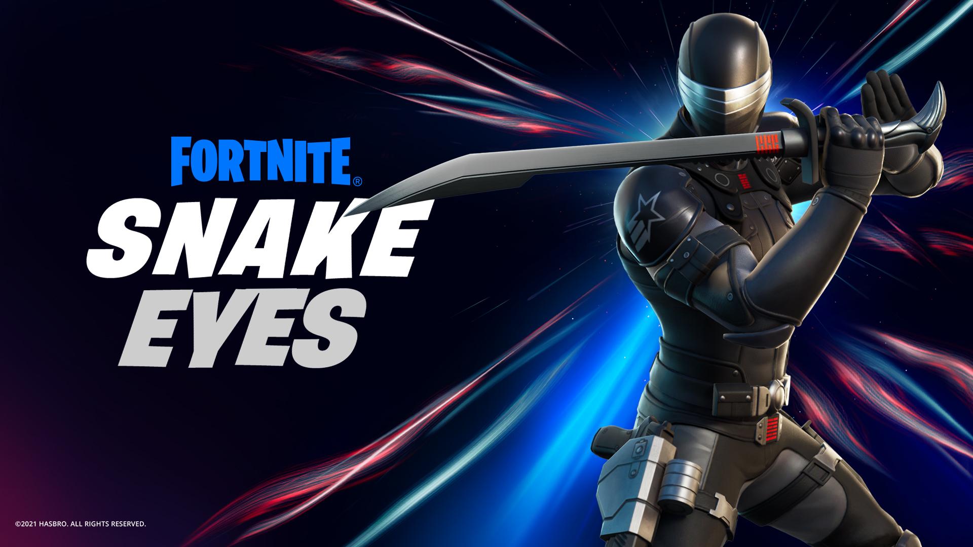 Fortnite Snake Eyes G.I. Joe skin