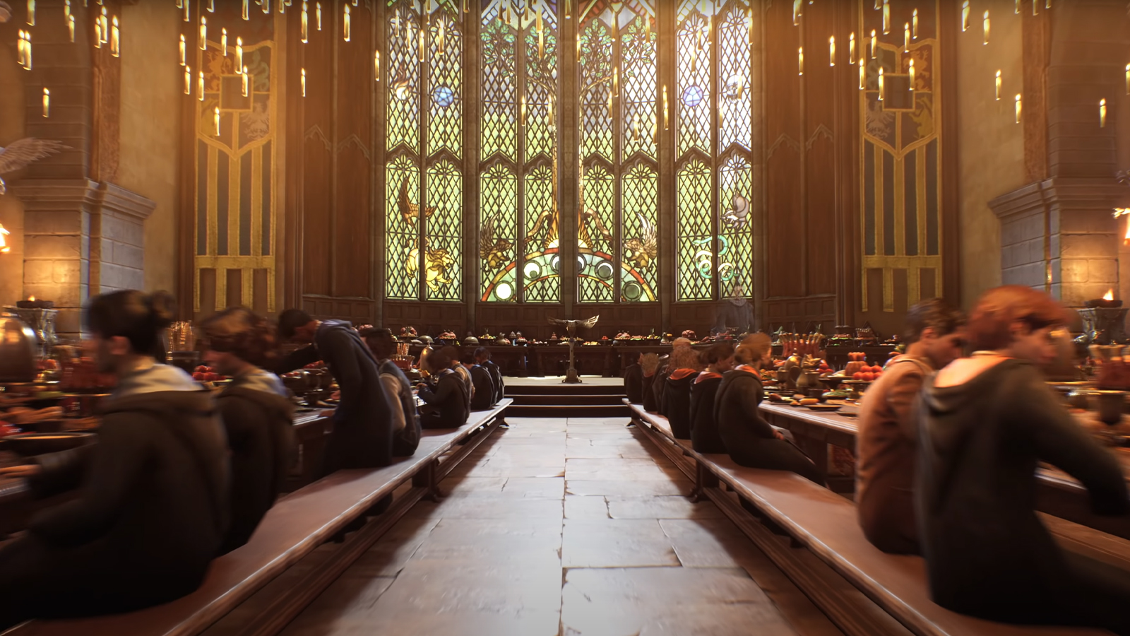 The Great Hall showcased in Hogwarts Legacy