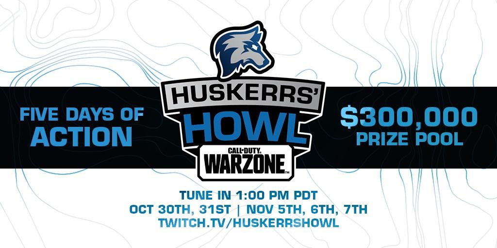 Huskerrs howl warzone logo