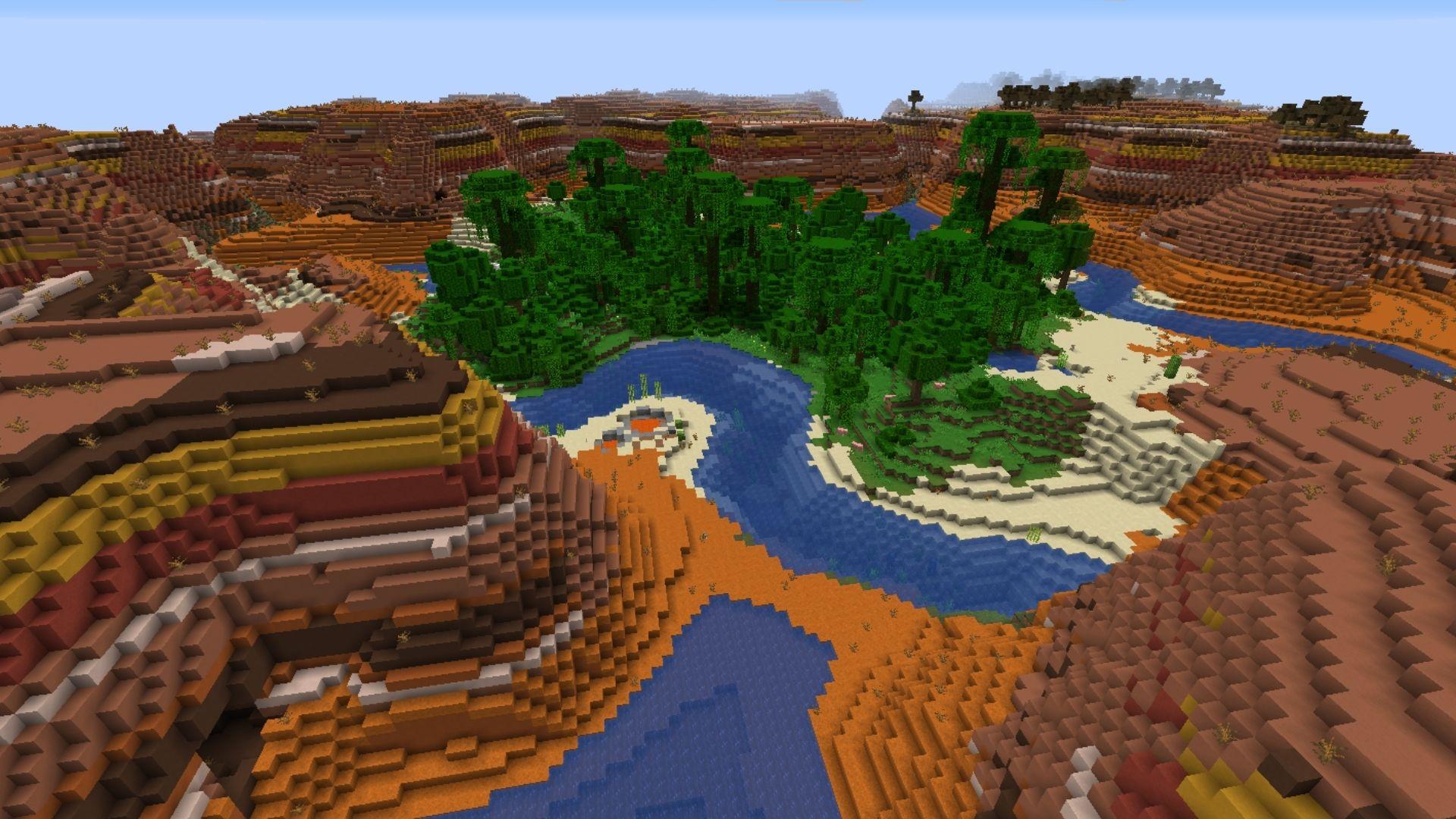 Jungle and desert biome