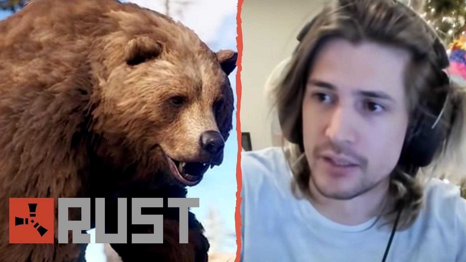 xQc rust bear attack