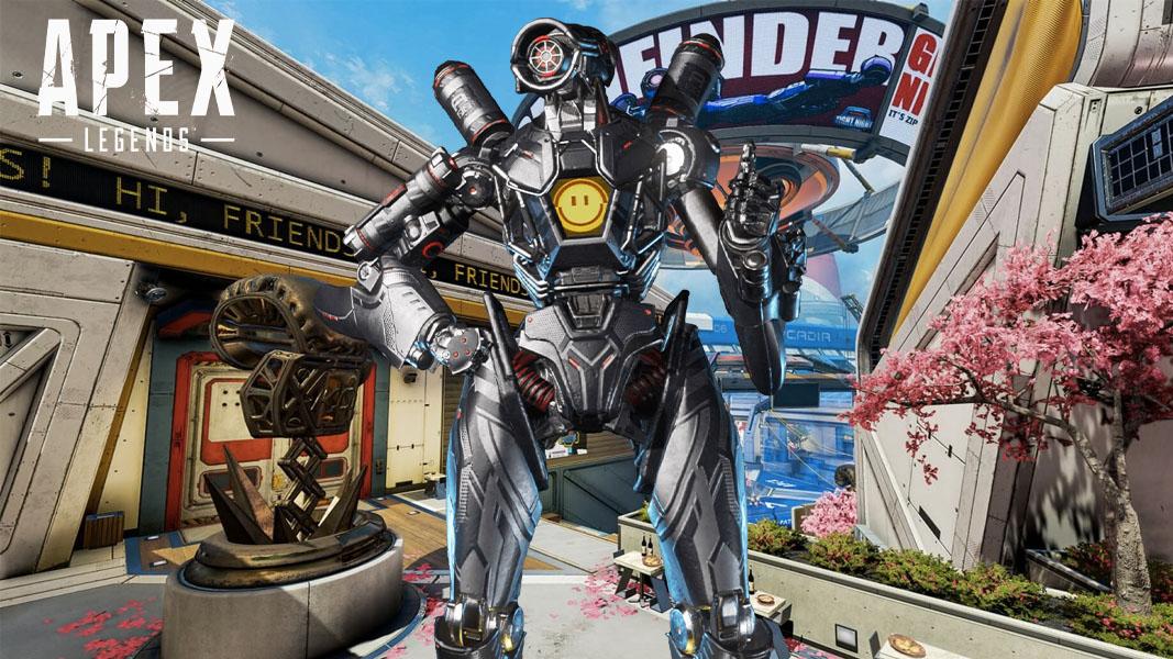 Pathfinder in Apex Legends at Pathfinder Town Takeover