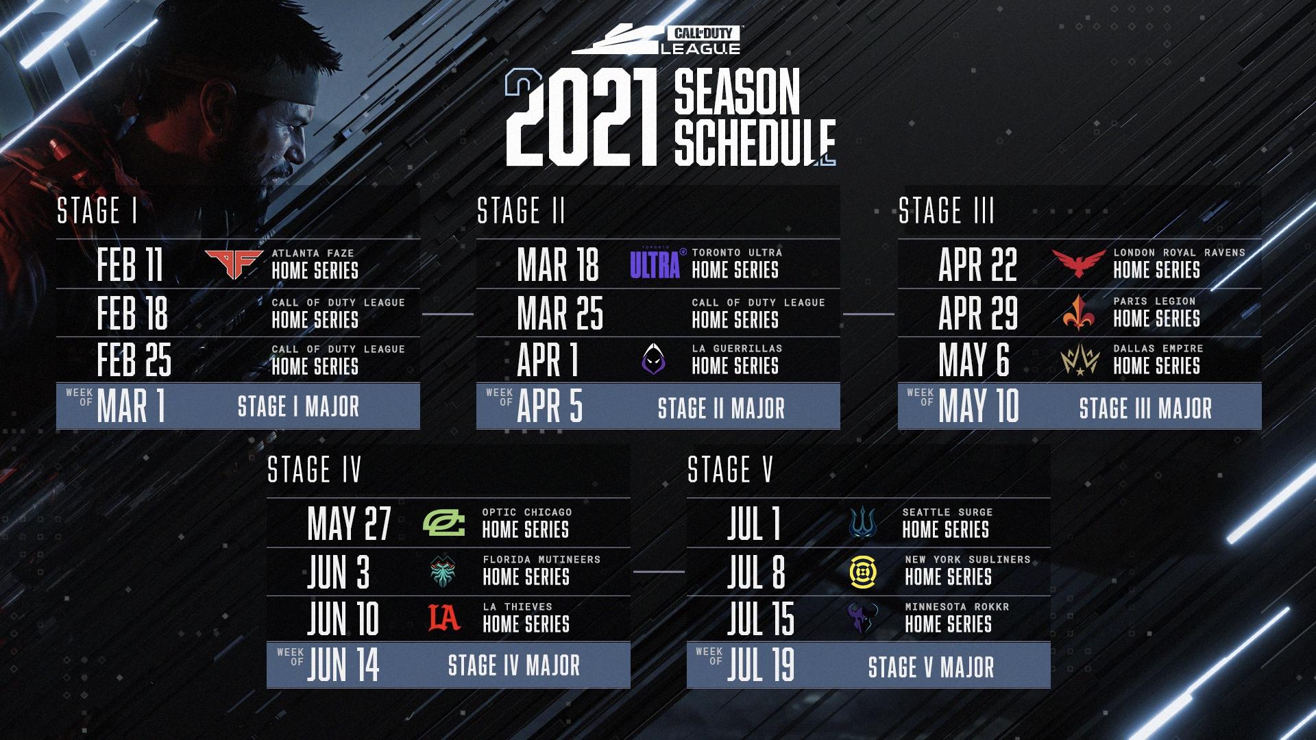 cdl 2021 regular season schedule