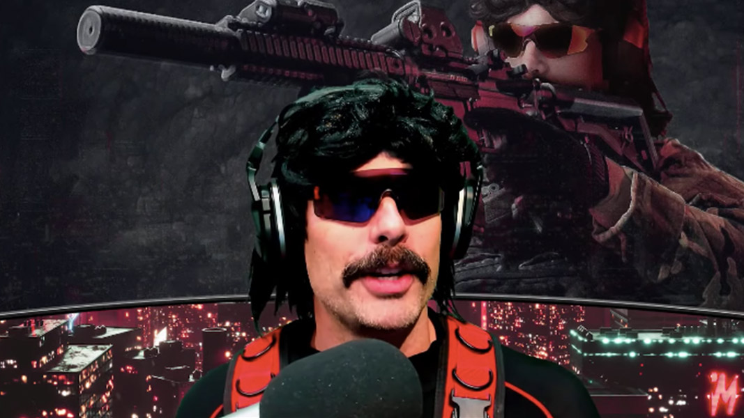 Dr Disrespect talking into his mic on YouTube