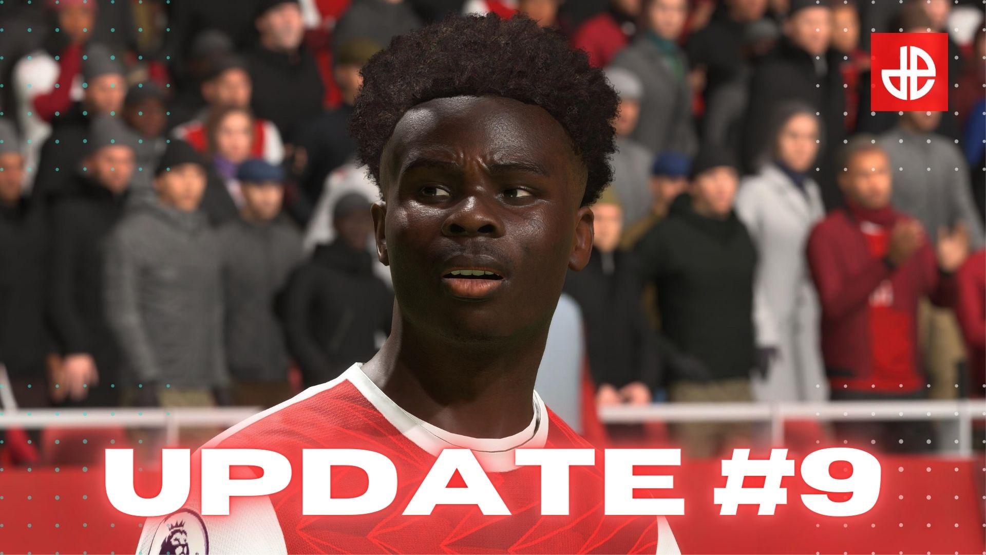 Bakayo Saka Arsenal stands next to FIFA 21 Title Update 9 patch notes Dexerto.