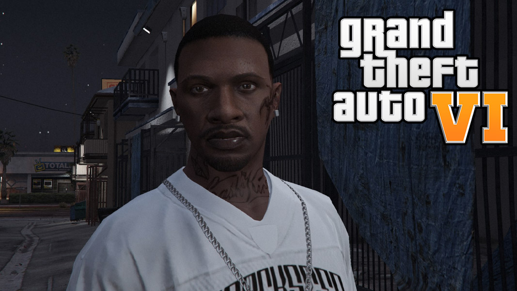 GTA Online character with the GTA Online logo